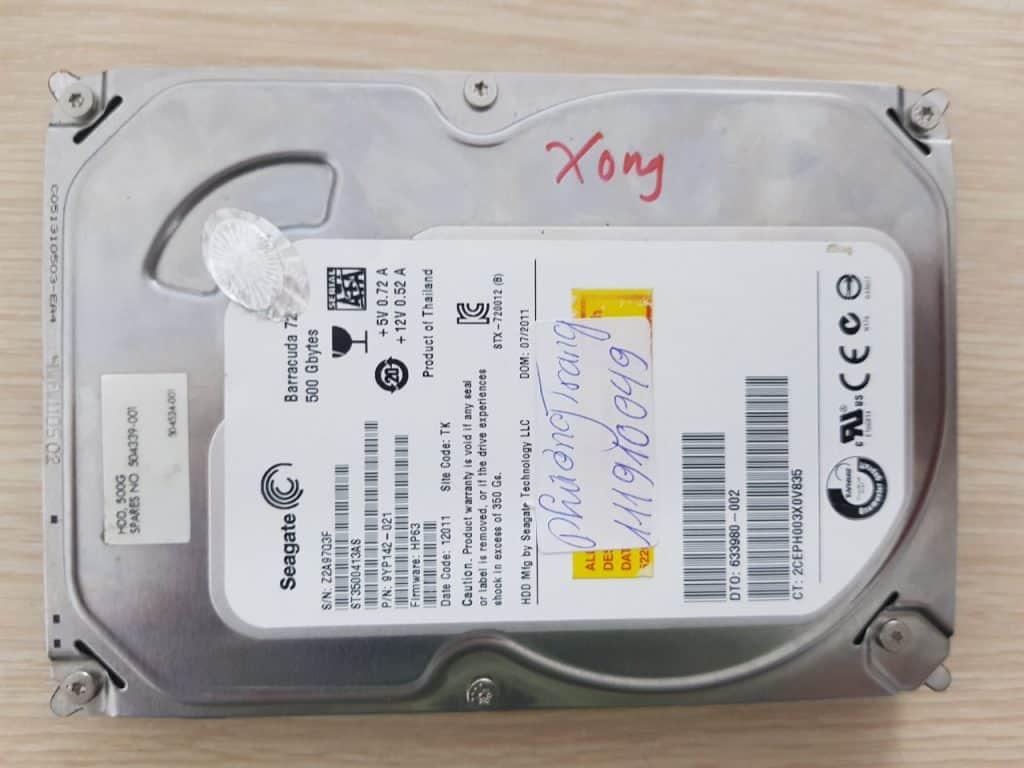 Phục hồi dữ liệu ổ cứng