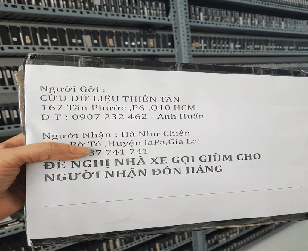 Cứu dữ liệu khách hàng ở tỉnh.