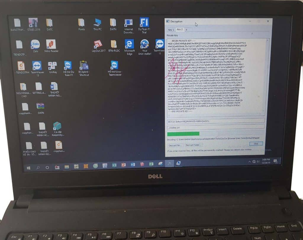 Cứu dữ liệu Virus mã hóa