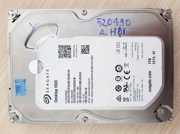 Cứu dữ liệu ổ cứng bị hư cơ