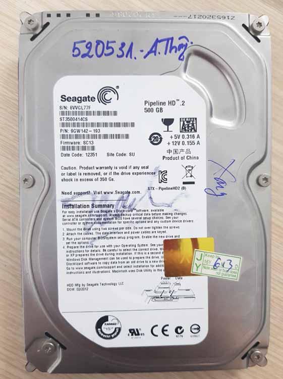 Lấy dữ liệu từ ổ cứng hư