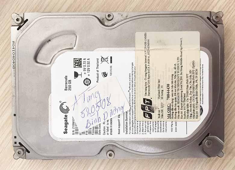 Khôi phục dữ liệu trên ổ cứng