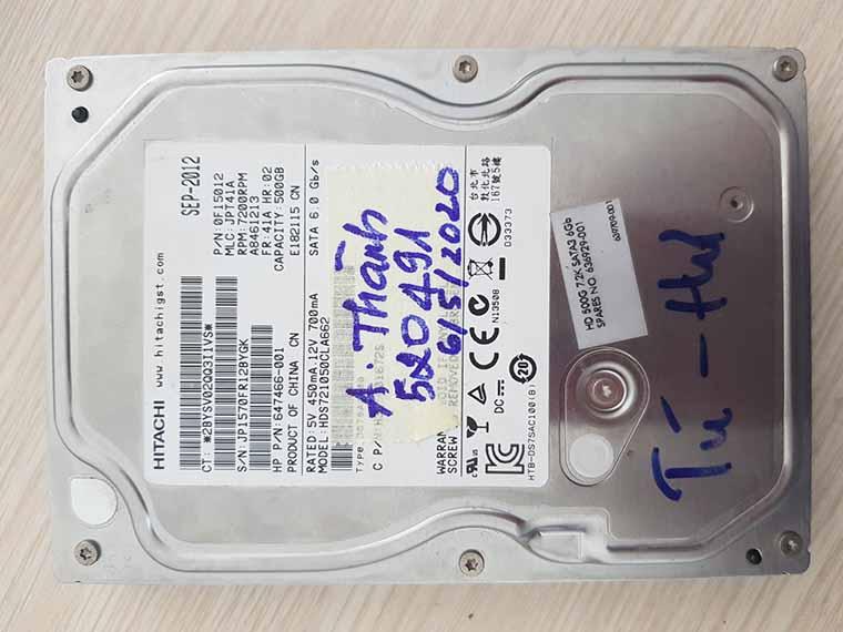 Phục hồi dữ liệu trên ổ cứng hư