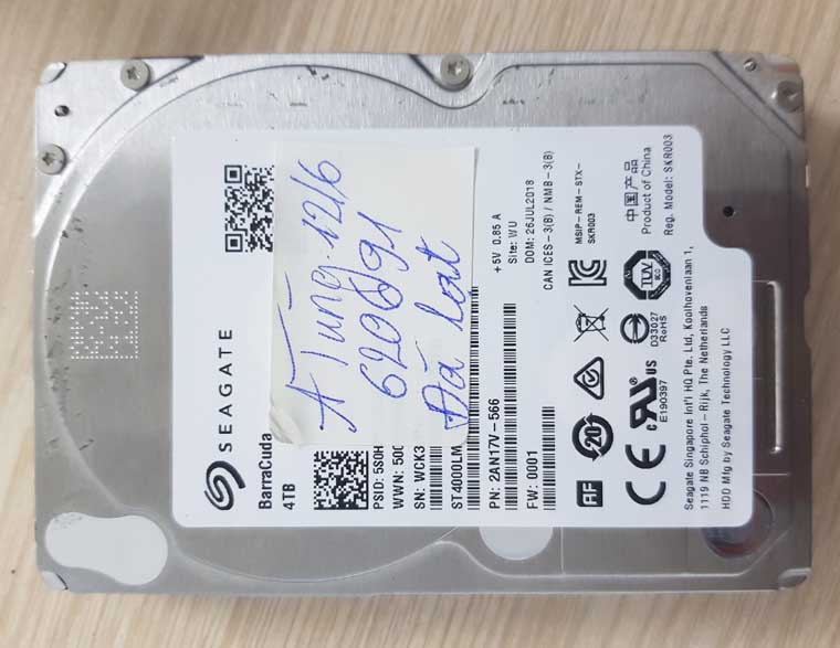 Lấy dữ liệu ổ cứng seagate laptop