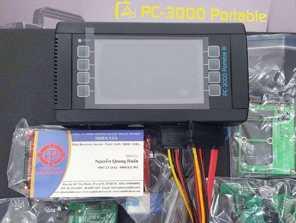 Tool cứu dữ liệu PC3000 Portable III  của trung tâm cứu dữ liệu Thiên Tân.
