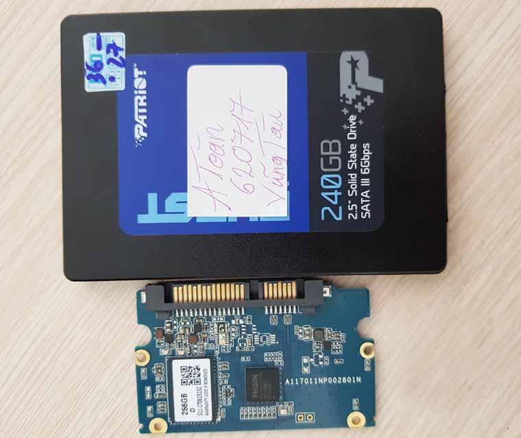 Cứu dữ liệu ổ cứng SSD 240GB