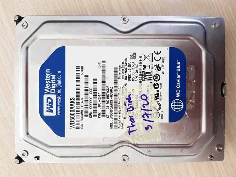 Phục hồi dữ liệu ổ cứng WD