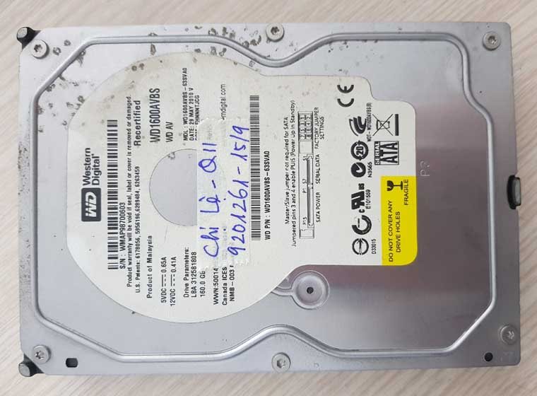 Cứu dữ liệu ổ cứng WD chết không nhận.