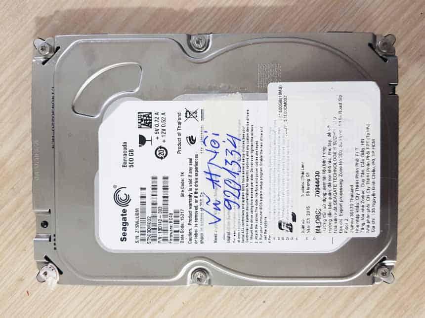 Cứu dữ liệu ổ cứng seagate hư