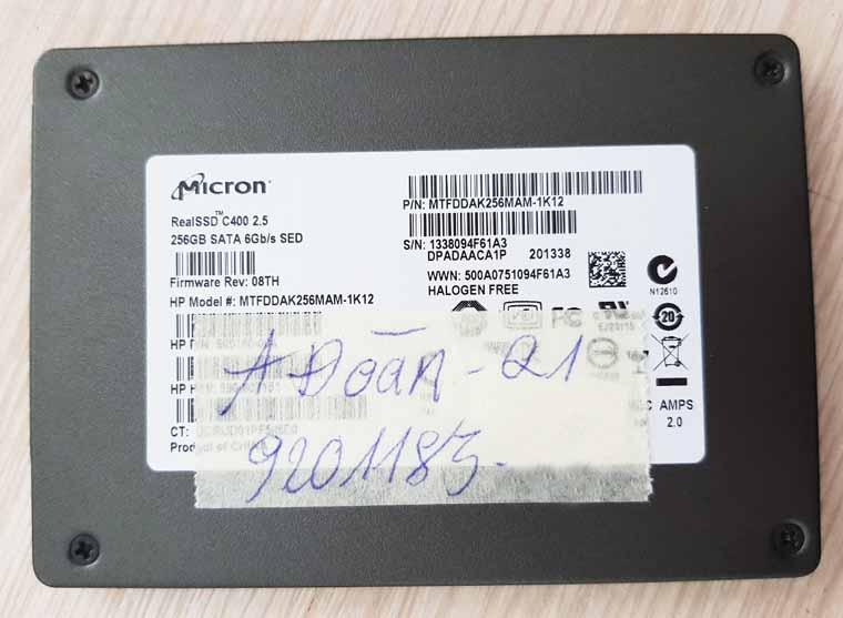 Cứu dữ liệu ổ đia cứng SSD lỗi firmware.