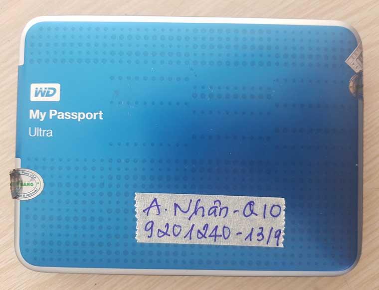 Khôi phục dữ liệu Box WD My Passport.