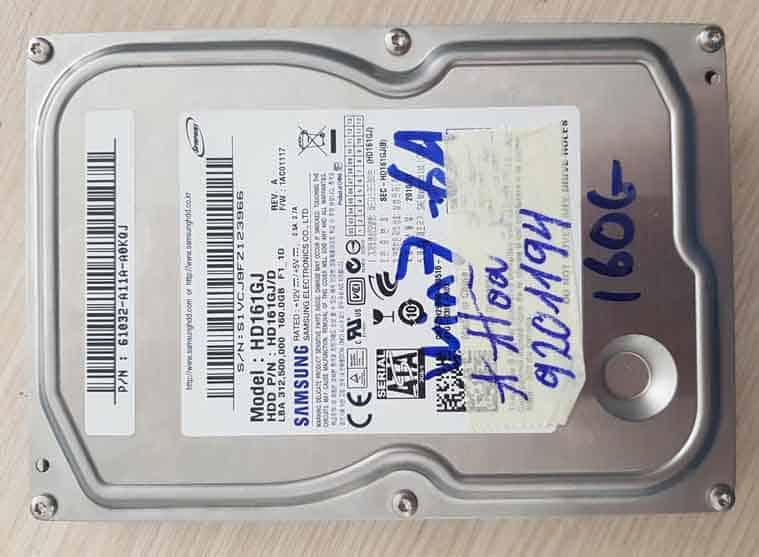 Phục hồi dữ liệu HDD samsung chết cơ.