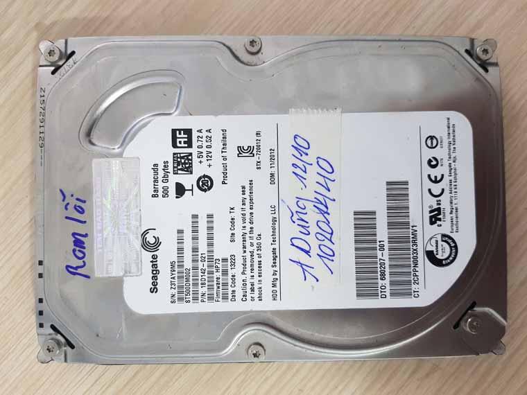 Lấy dữ liệu ổ cứng bị chết